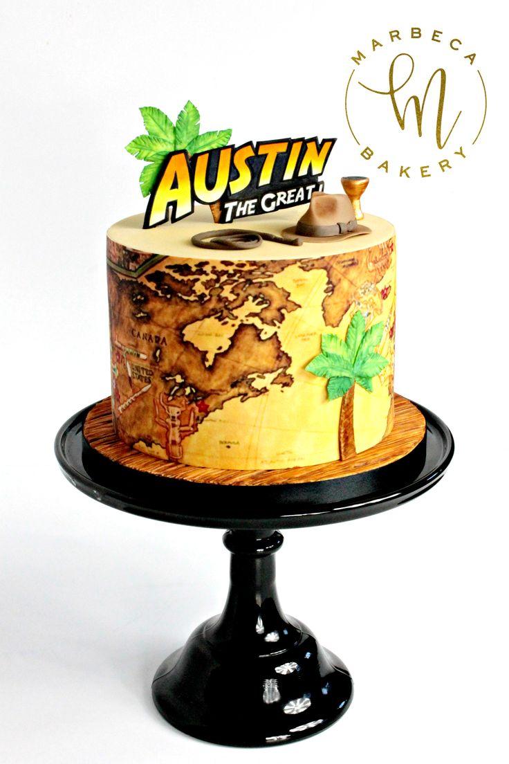 indianjones birthday party invitations printable%0A Indiana Jones themed birthday cake  Marbeca Bakery