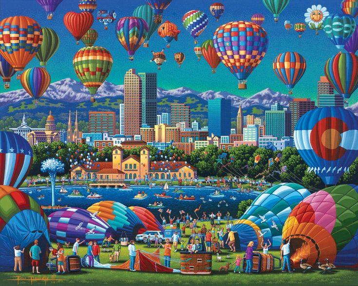 Above Denver Stratascape Puzzle art, Fine art, Art