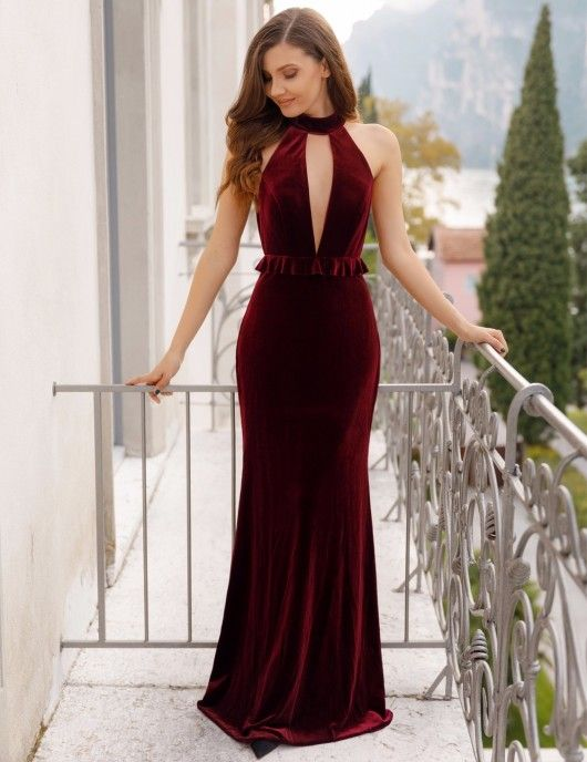 Ever-Pretty Elegant Strapless Long Evening Dress Mermaid Celebrity Cocktail Gown