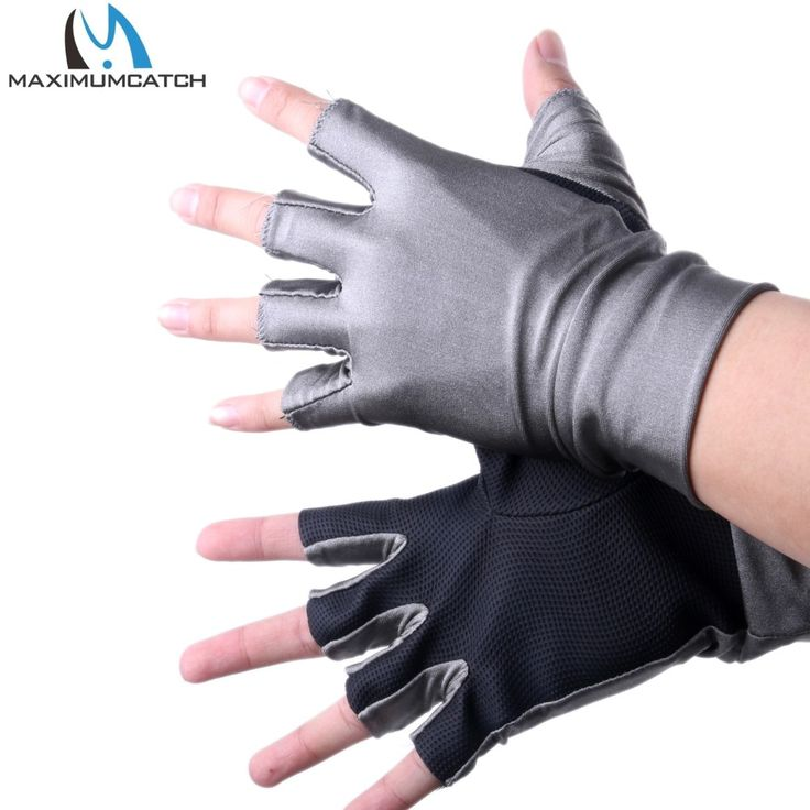 Half-Finger UV Protection Lycra Sun Gloves Anti-UV Outdoor sports Fishing Gloves 1Pair