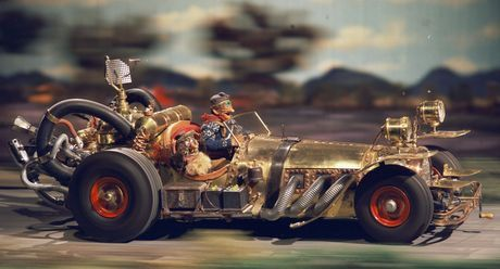 Flåklypa Grand Prix, Norwegian stop motion-animated feature film directed by Ivo Caprino 1975.