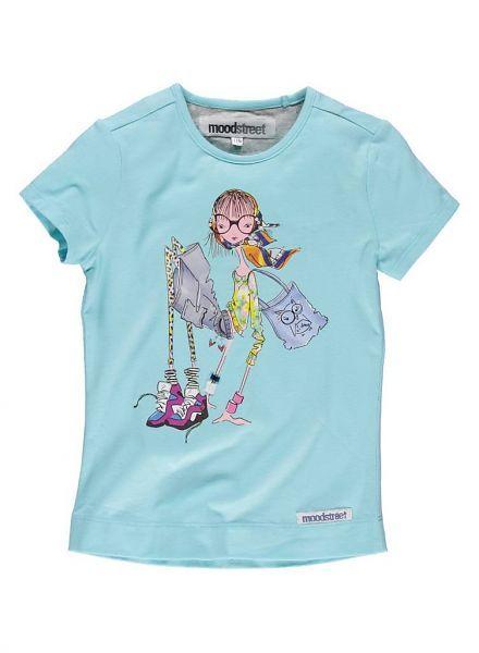 Moodstreet Moodstreet shiny blauw shirt met Meisje