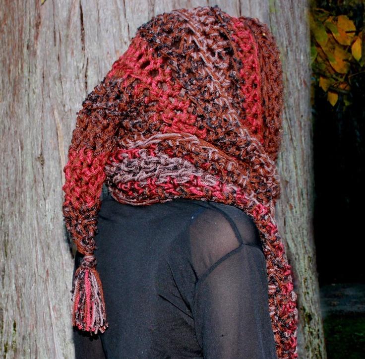 Fantástico Bufanda Con Capucha Patrón De Crochet Libre Galería ...