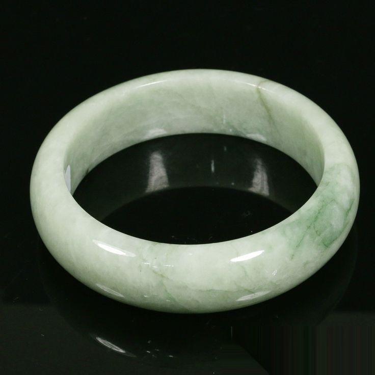 Certified 58.5mm - 441 ct  Natural Jadeite Jade Bangle Bracelet  - Grade A
