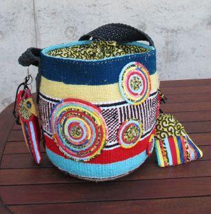 Kiondo basket made into bag for charity event 2012
