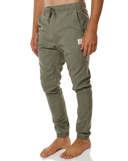 RUSTY HOOK OUT MENS JOGGER PANT - ARMY