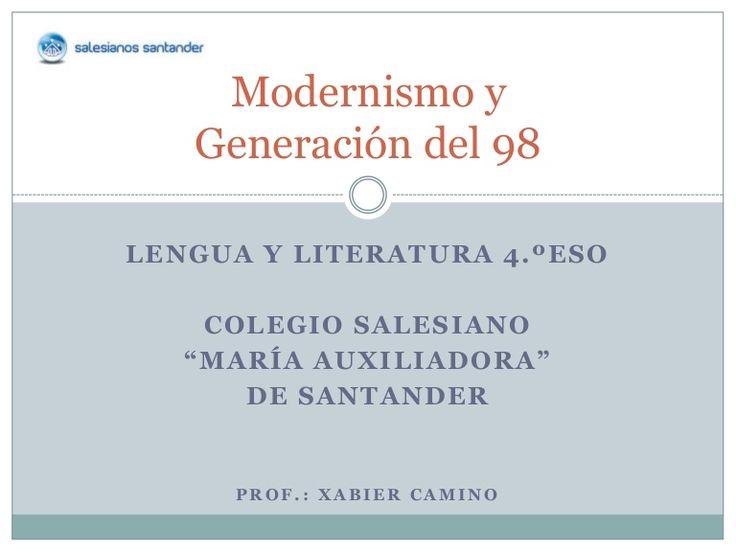 Presentación del Modernismo y Generación del 98