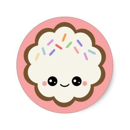 Extra cute chocolate cookie with vanilla frosting, happy face, and sprinkles.