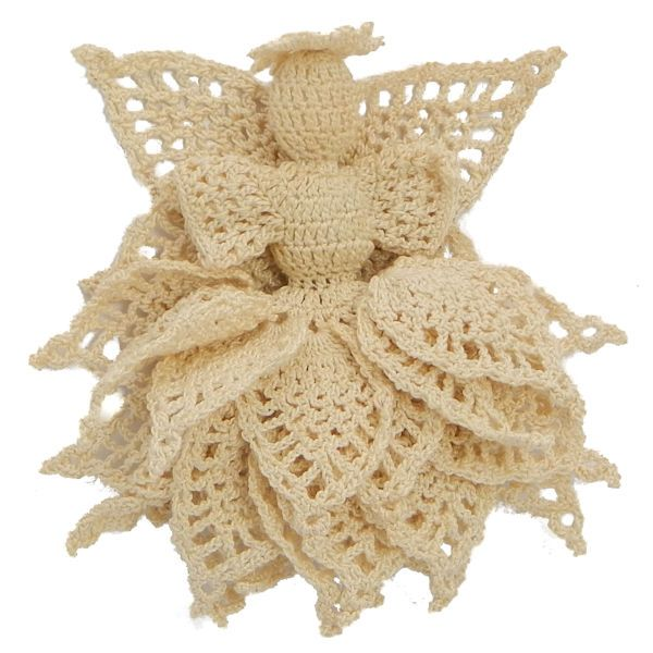 Majestic Pineapple Angel Ornament - A free Crochet pattern from jpfun.com.