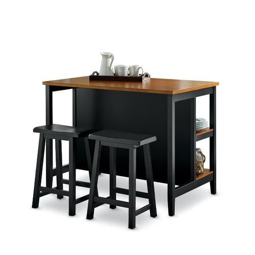 Essential Home Kinsley 3pc Kitchen Island Dining Set With