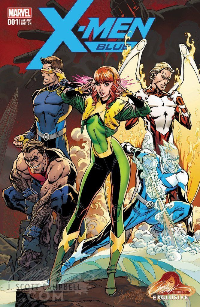 Astonishing X Men 001 2017 Covers Comics Post Marvel Comics Art Comic Book Girl J Scott Campbell