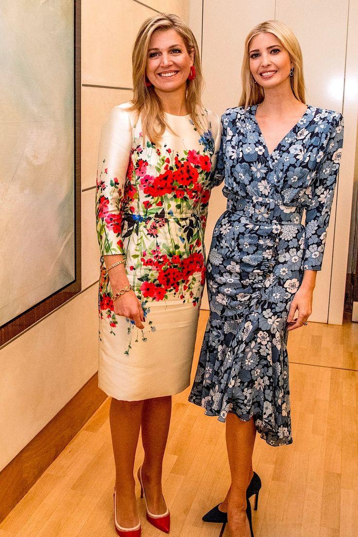 Queen Maxima and 1st daughter of the US Ivanka Trump in Berlin 25-4-2017