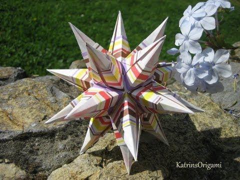 Kusudama Me! - Modular Origami Origami Ball, Origami Folding, 3d Origami, Origami Flowers, Origami Paper, Origami Hearts, Origami Boxes, Origami Instructions, Origami Tutorial