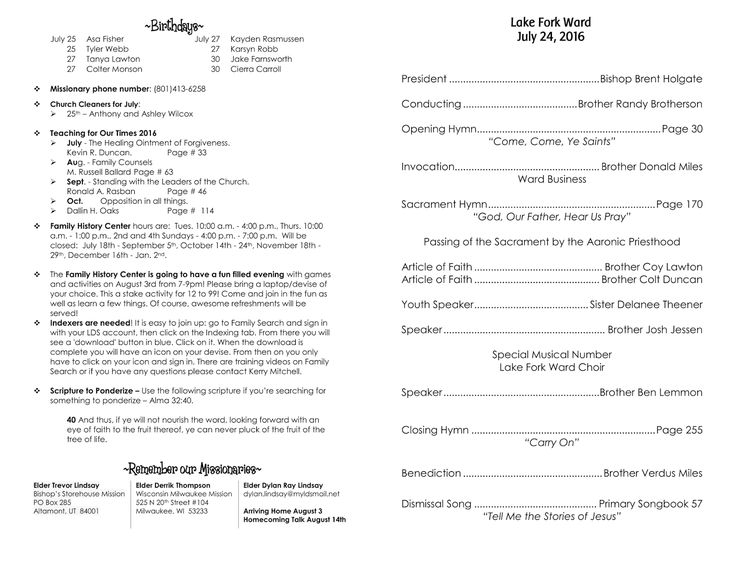 Best Sacrament Meeting Programs Images On   Lds Church