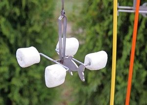 Our Campfire Fishing Pole is a fun and easy way to cook marshmallows evenly and without getting too close to the fire. The motion of setting the hook flips your marshmallows with the help of a cleverly designed fish-shaped counterweight.