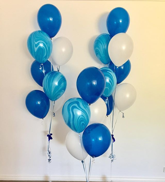 Love blue! 💙 Balloons for a special 60th tonight! 🎈