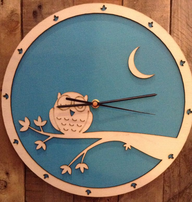Whats Cutting Design Studio, Laser cut clock, Norman the Owl.