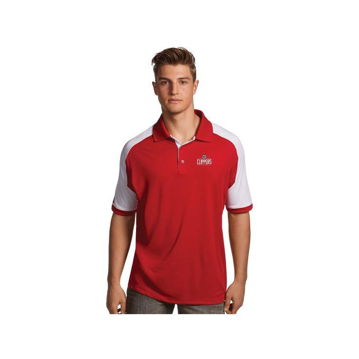 Men's Antigua Los Angeles Clippers Century Polo, Size: Medium, Dark Red