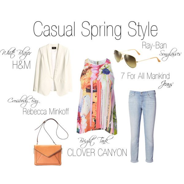 """""""Casual Spring Style"""" by shopeluxe on Polyvore"""