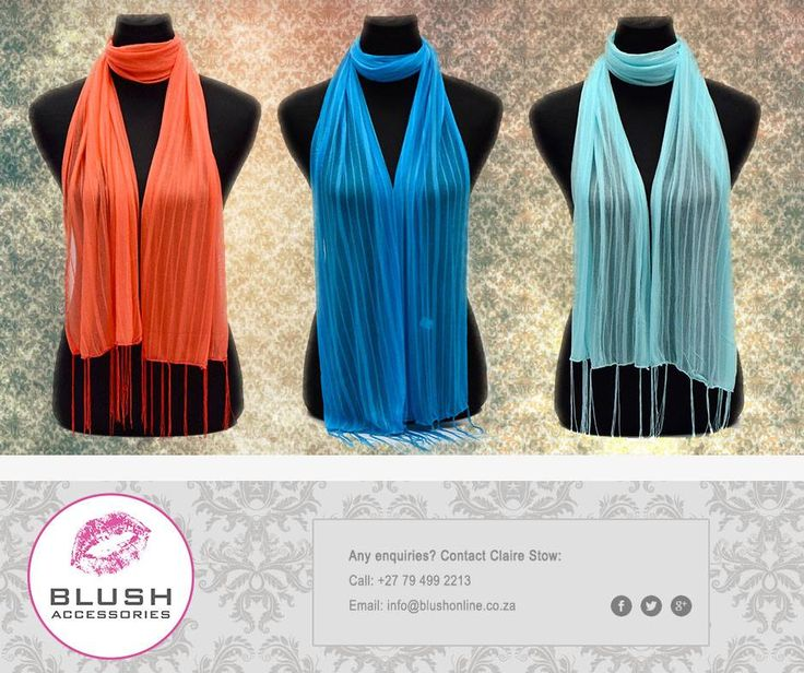 Dress to impress with our #beautiful assorted range of scarves available from your nearest #Blush store.