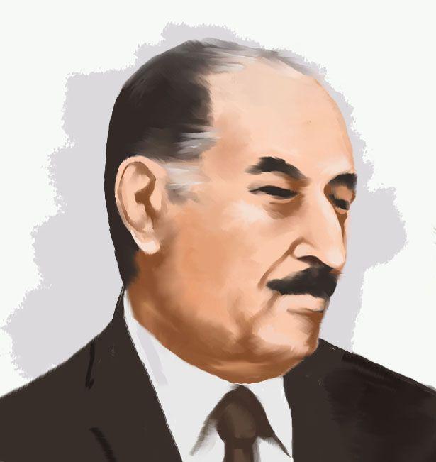 الرئيس العراقي الراحل احمد حسن البكر Photoshop Art