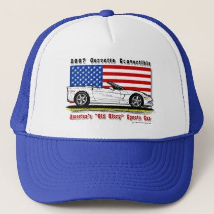 2007 Corvette Convertible Baseball / Trucker Cap - accessories accessory gift idea stylish unique custom