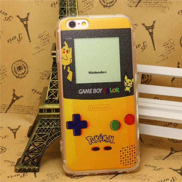 Pokemon Go Pikachu Game Boy Hard Case Soft Edge Cover F iPhone 6 / 6S Plus