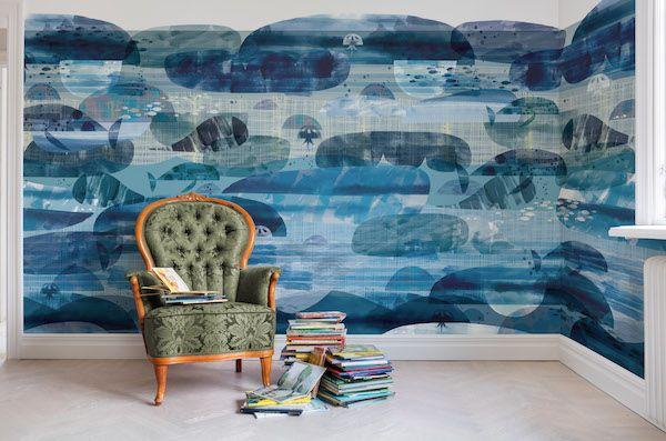 Behang van Rebel Walls #blauw #interieur