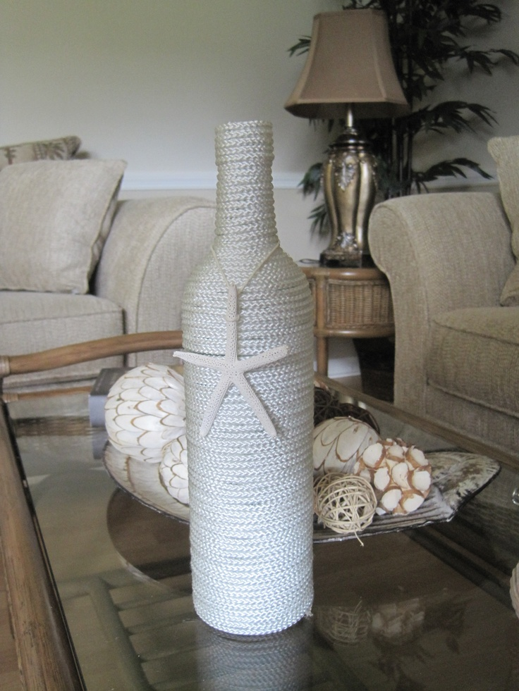 #upcycled this #wine bottle #craft what do you think?