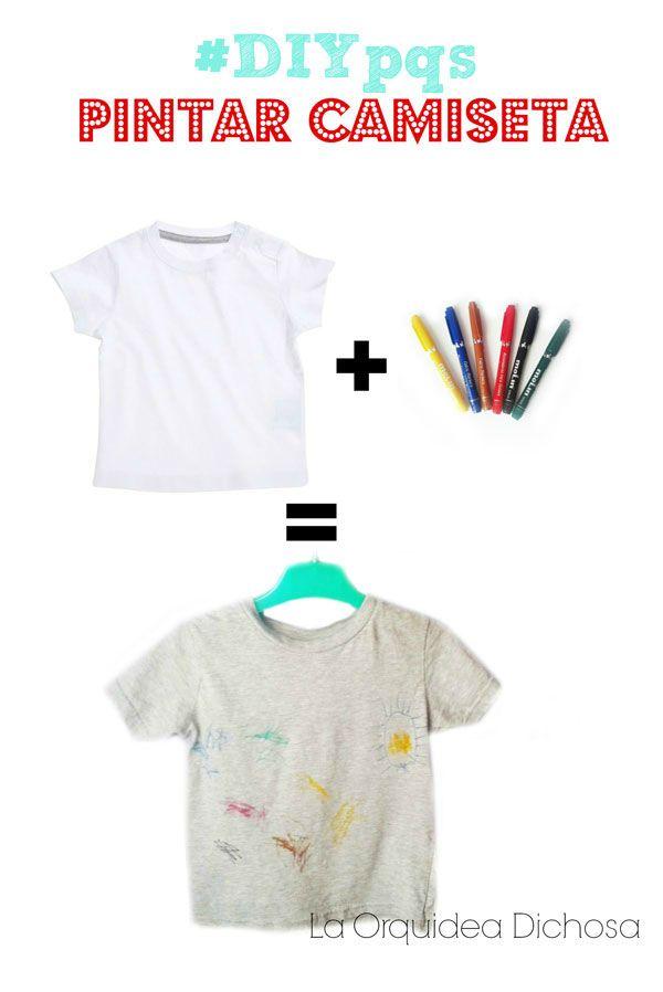 Pintar una camiseta ideas para hacer con los peques - Pintar camisetas ninos ...