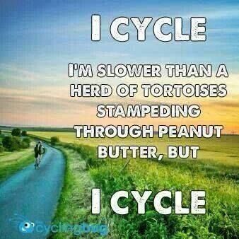 This is me.  When I'm not doing social media, I'm out with the kids, moving at snails pace.  #cycling  @molonglorailtrail #cyclingmeme  #cyclingquote  #cyclinginspo    http://www.molonglorailtrail.org/