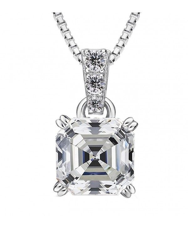 abd46b20c Necklaces, Pendants, Sterling Silver made with Swarovski Zirconia 7mm (2ct)  Asscher cut Solitaire Pendant Necklace - CE1844949RN #Necklaces #designer  ...