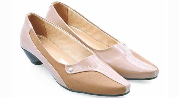 Sepatu Pantofel Wanita|Sepatu Kerja Wanita|Sepatu High Heels Cewek Mumer Kulit Formal Branded Murah Terbaru|AMS 1505