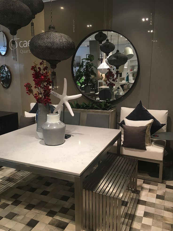 Lulu Square Dining table in Caesarstone Noble Grey just found a new home in the showroom.
