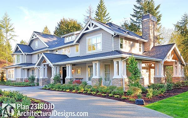 Craftsman Rambler House Plan 23180JD built again. And looking good.  ArchitecturalDesigns.com #readywhenyouare