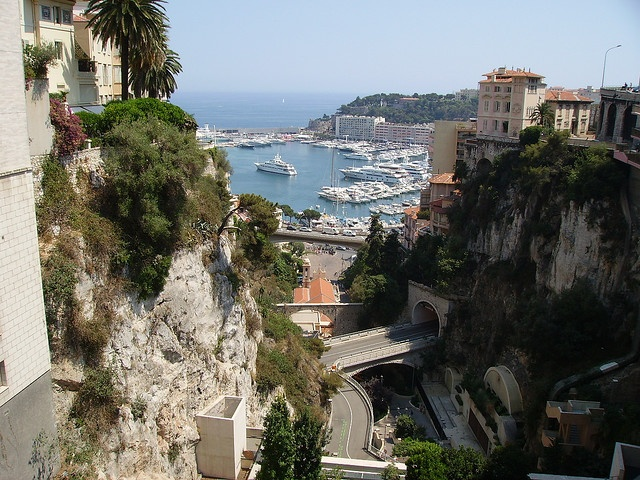 Monte Carlo, Monaco -stayed in a youth hostel at the top of this hill. Amazing view.