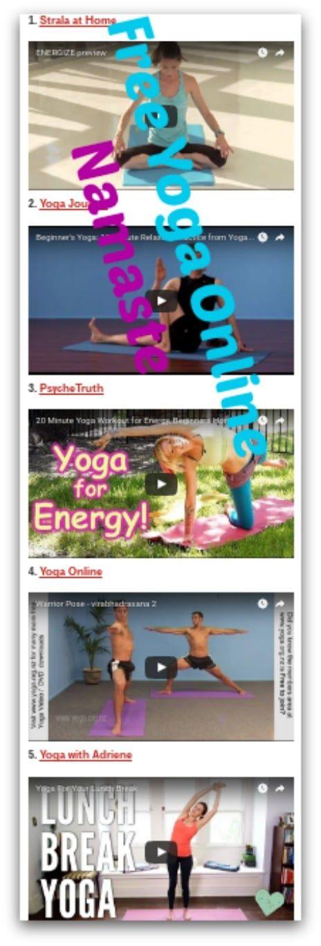 free yoga online namaste -- save money -- gain health