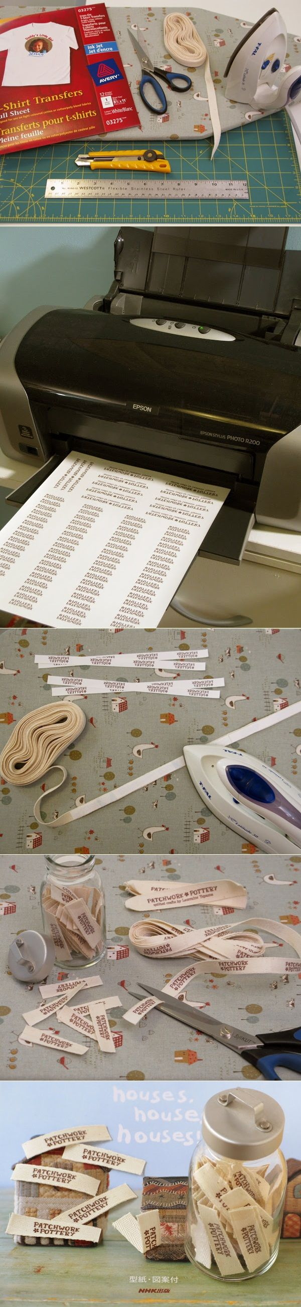 DIY Fabric Labels  #diy #crafting #fabric_labels