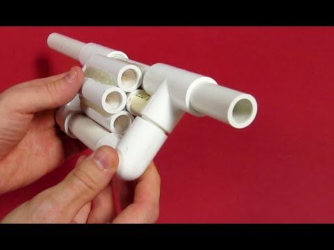 PVC Blowgun Revolver - Six Shooter - How to make a Blowgun (WATCH VIDEO) This is a very cool Blowgun Revolver that I designed to reduce the time it takes to fire a normal blowgun. It is made almost entirely of PVC with a couple exceptions. It can pop balloons and pierce an apple from a short distance away. The darts are reusable and will last many shots if you take care of them.