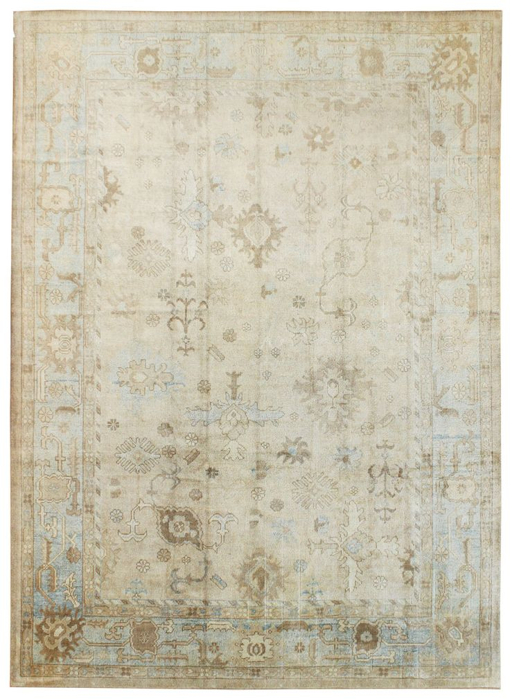 Oushak Rugs Gallery: Oushak Rug, Hand-knotted in Turkey; size: 10 feet 0 inch(es) x 13 feet 9 inch(es)