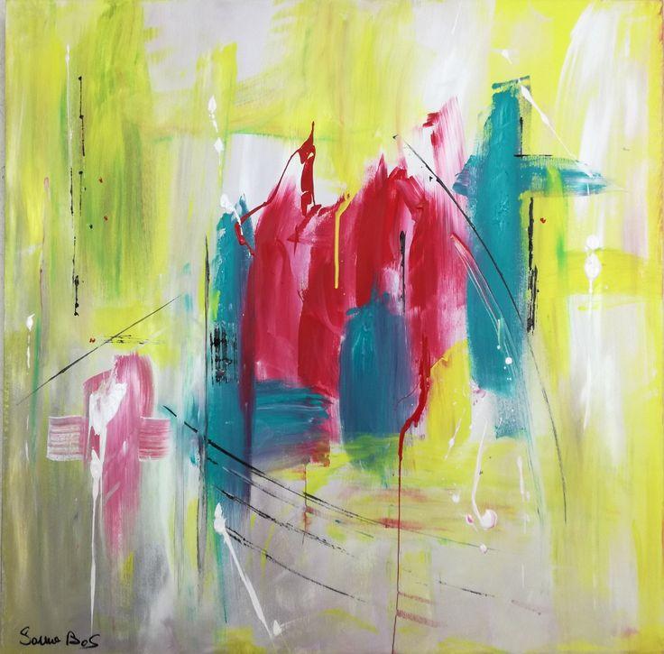 quadro astratto moderno olio su tela - misura 80x80x4 cm per info :