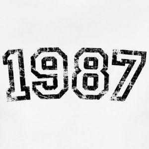 Year 1987 Birthday Design Vintage Anniversary T-Shirts - Women's Premium T-Shirt