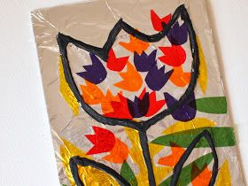 Stained Glass Craft (with aluminum foil and cellophane)