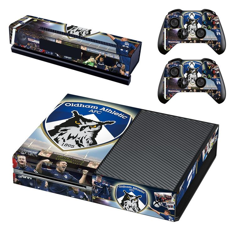 Oldham athletic AFC xbox one skin decal for console and 2 controllers