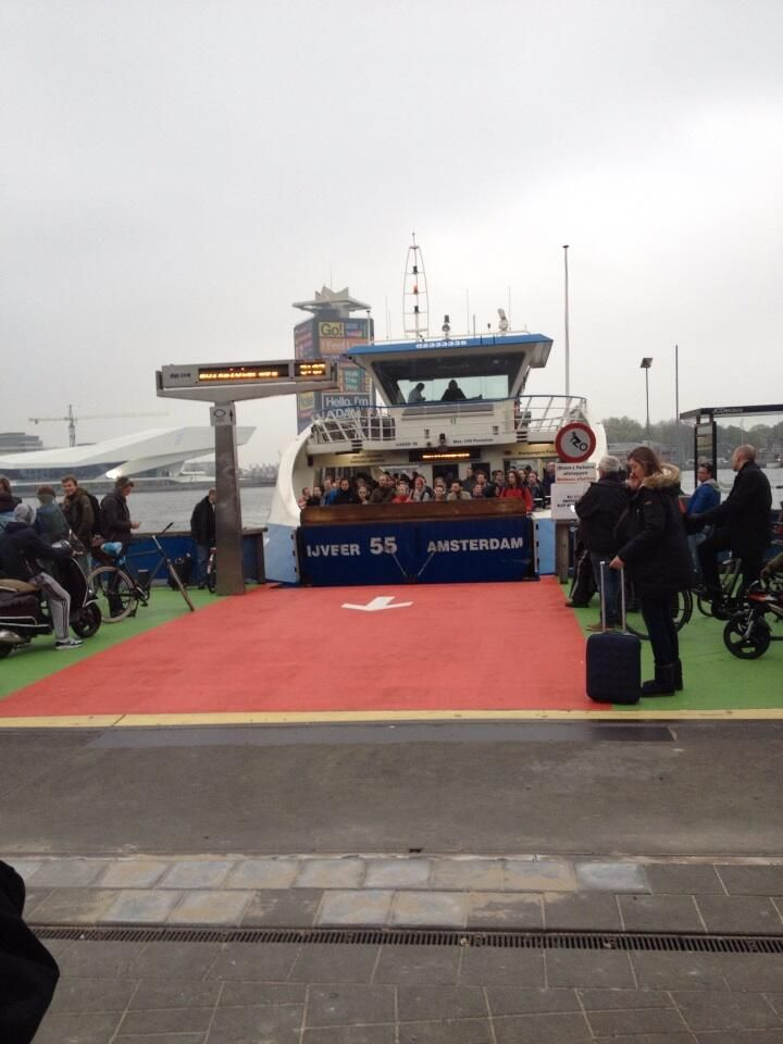 Nudging by colour at the Ferry Amsterdam. Used to be mayhem in front of Ferry. HT @diandaveldman