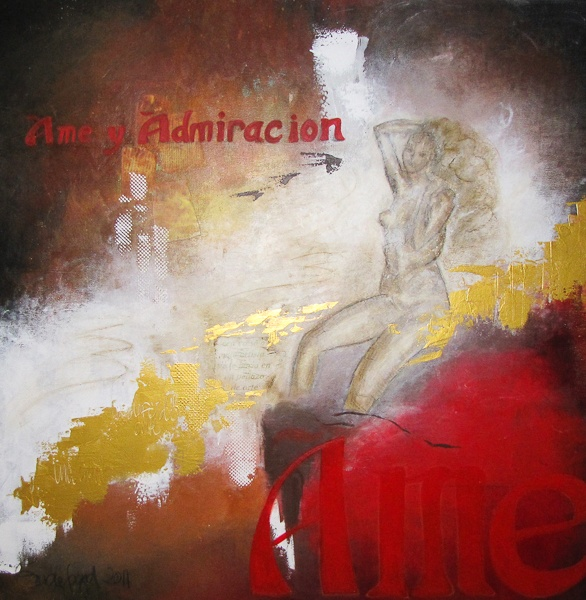 Ame y Admiration - acrylic and collage on canvas!