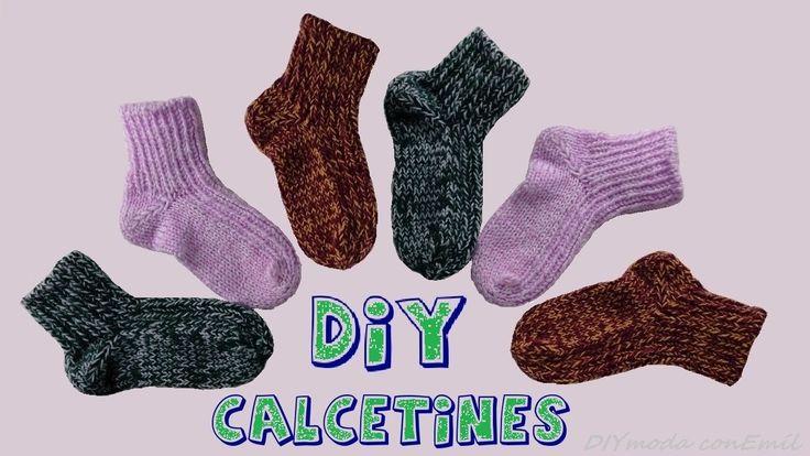 Cómo tejer calcetines con dos agujas, paso a paso.