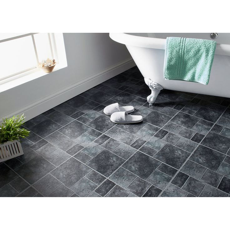 Self Adhesive Floor Tiles Grey Stone Effect. These stylish grey stone effect vinyl tiles create a contemporary look to any space. 11 pack. Size: 1M₂.