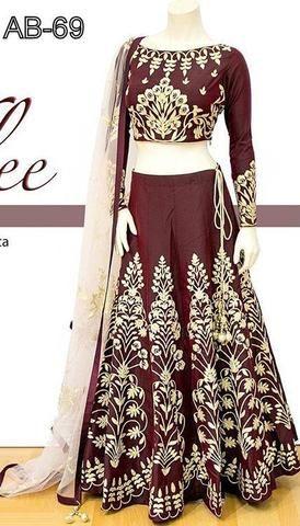 ASTHA BRIDAL- Maroon Color Dhupion Lehenga-ABC-69     #lehenga #fashion #look #looking #popular #offers #trendz #design #new #look #offers #design #amazing #popular #look #looking #design #fashionable #nice #trend #trending #design #collection #offers