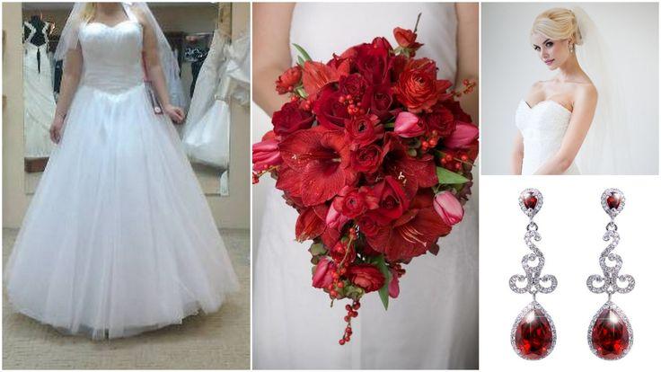 red bridal inspiration/ red wedding theme jewelry/ biżuteria ślubna www.novia-blanca.pl